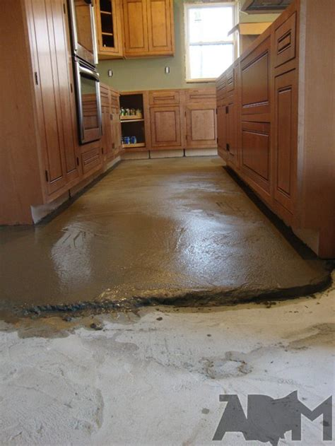 how to level a kitchen floor we 2 tons of concrete in our kitchen 8730