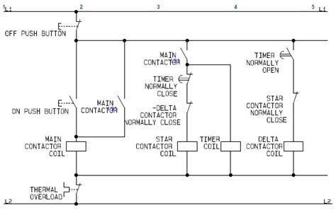 control circuit of a star delta or wye delta electric motor controller a basic how to guide