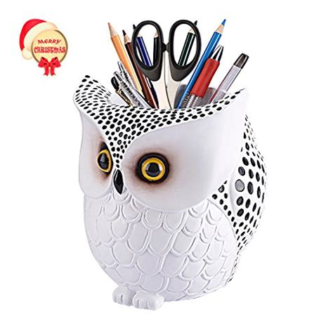 owl  holderlyasi pencil container carving brush pot