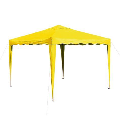Gartenpavillon  Faltpavillon AluMetall 3x3 Meter gelb