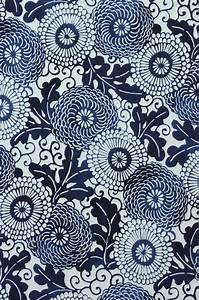 Meiji Mumm in Indigo - ctoon fabric by Alexander Henry - 1 ...