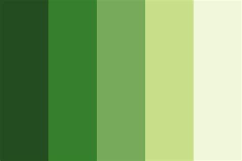 Parrot Green Color Palette