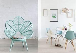 decoration interieure miser sur le vert menthe vert With wonderful couleur pastel pour salon 8 realisations
