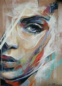 epingle par monika pogacar sur art pinterest peinture With panneau de couleur peinture murale 5 tableau abstrait abstract face