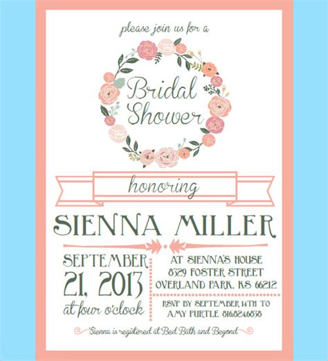 Free Bridal Shower Templates by 30 Bridal Shower Invitations Templates Psd Invitations