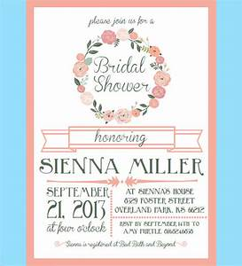 30 bridal shower invitations templates psd invitations for Wedding shower templates
