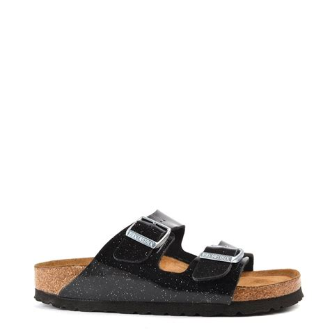 birkenstock arizona magic galaxy black  strap sandal