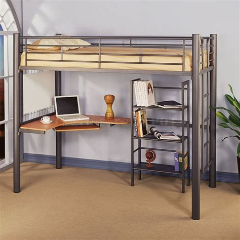 loft bed with desk bunk bed with desk underneath for your kids compact room