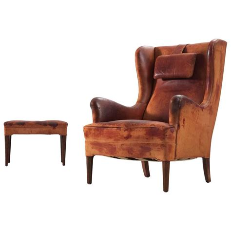 wingback chair and ottoman frits henningsen wingback chair and ottoman in original