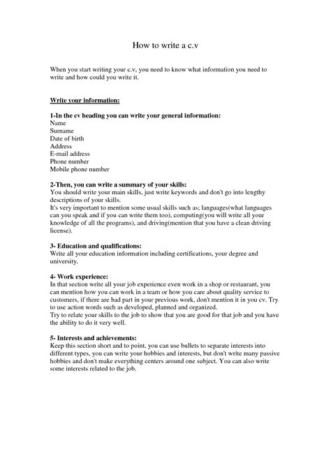 How To Write Your Cv by How To Write Your Degree On Your Cv