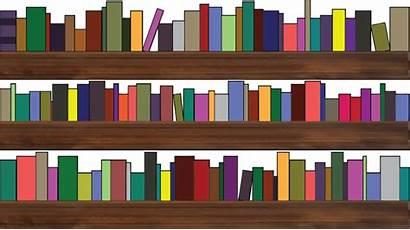 Clipart Bookshelf Shelf Cartoon Books Library Bookshelves