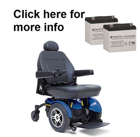 Jazzy Elite Power Chair Batteries by Pride Mobility Jazzy Elite 14 Power Wheelchair Battery Sp12 55