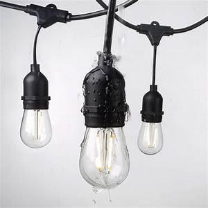 Waterproof, 15m, 15, Led, String, Lights, Indoor, Outdoor, Commercial, Grade, E26, E27, Street, Garden, Patio