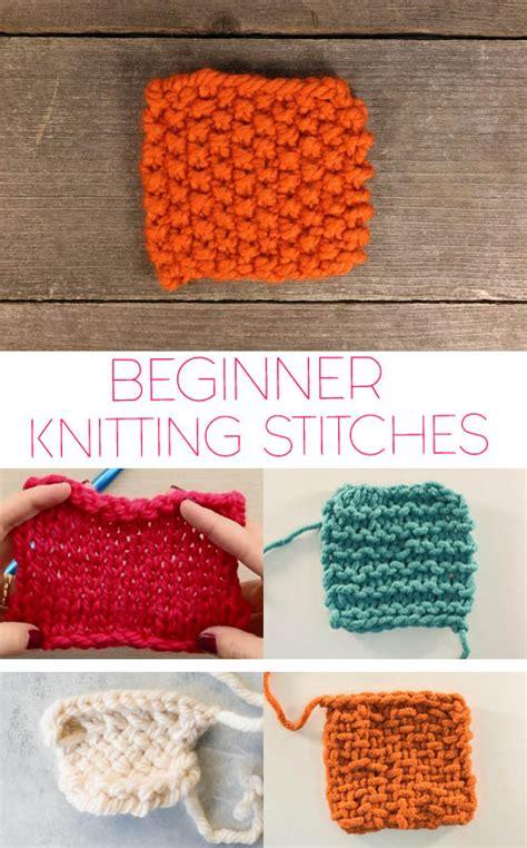 basic knitting stitches  beginners gina michele