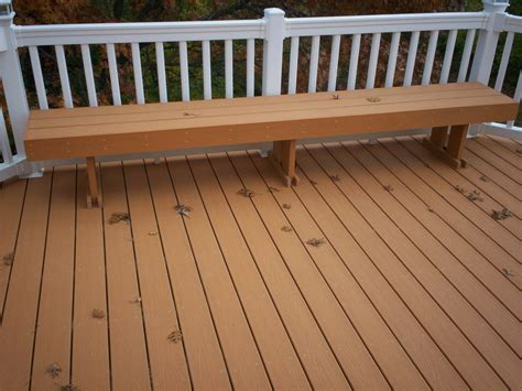 Deck Bench Design by Deck Design In St Louis Features And Embellishments St