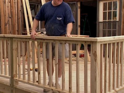 Installing A Banister by How To Build Custom Deck Railings In 2019 For The Home
