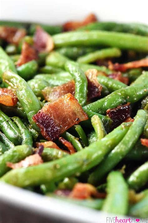 bacon green bean casserole fivehearthome