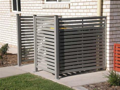 outdoor patio privacy screen ideas rubbish bin aircon screening screen enclosures