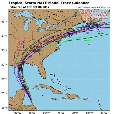 Hurricane Nate Path Update Live
