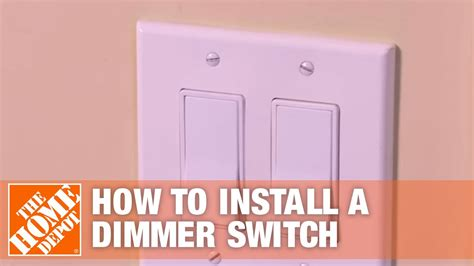 how to install a dimmer switch single pole three way light switch the home depot youtube