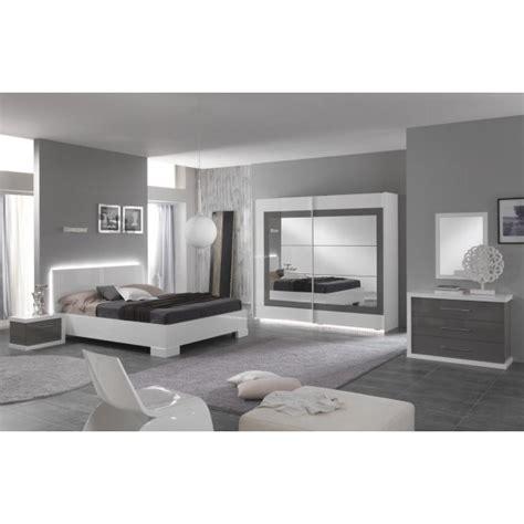 chambre en gris et blanc chambre à coucher quot ancona quot en blanc et gris laqué déco