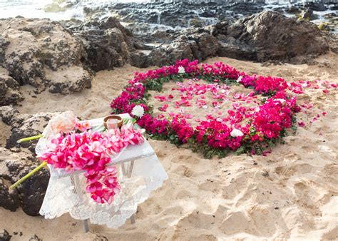 maui beach wedding flower circle ideas maui wedding