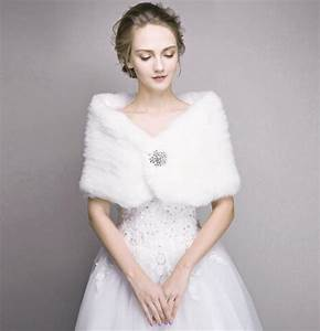 bridal fur stole ivory faux fur shawl wedding winter With fur wrap for wedding dress