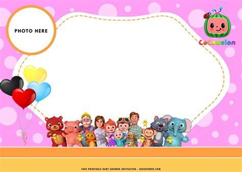 printable cocomelon baby shower invitation