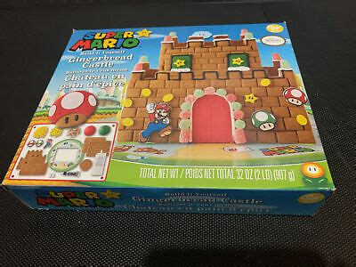 Wilton Nintendo Super Mario Gingerbread Castle House ...