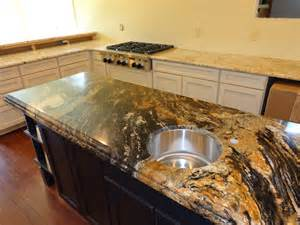 magma gold doubled up for a kitchen island the island was