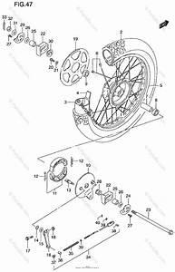 Suzuki Motorcycle 1999 Oem Parts Diagram For Rear Wheel