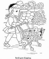 Coloring Pages Shopping Food Printable Sheets Print Books Grocery Cat Printables Raisingourkids Children Rocks Colouring Goes Drawing Printing Adult Colour sketch template