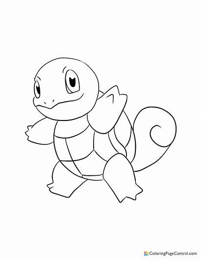 Squirtle Coloring Pokemon Cubone Coloringpagecentral