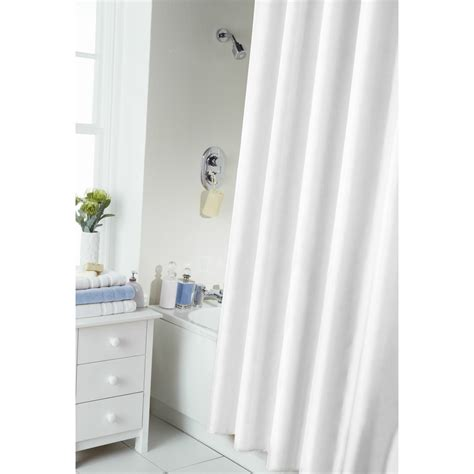 plain shower curtain with rail rings ebay