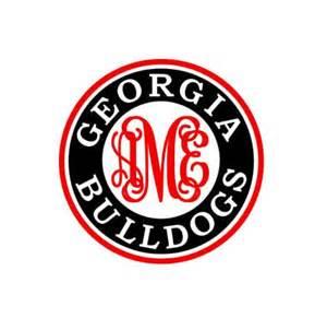 Georgia Bulldogs monogram instant download cut file - SVG DXF EPS ps studio3 studio (monogram font sold separately)