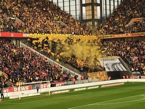 Die borussen (the borussians) die schwarzgelben (the black and yellows) der bvb (the bvb). 106 Jahre Borussia Dortmund - Choreo 19.12.2015 - Köln vs ...