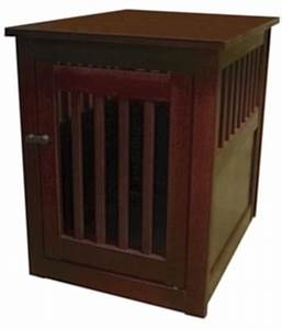 wood dog crate end table furniture pet cage indoor house With small dog crate furniture