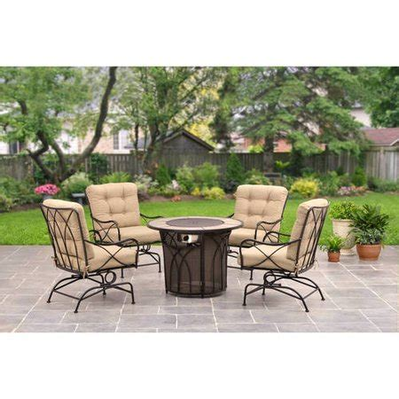 homes  garden seacliff gas fire pit chat set