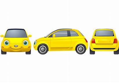 Yellow Vector Cars Vecteezy Graphics