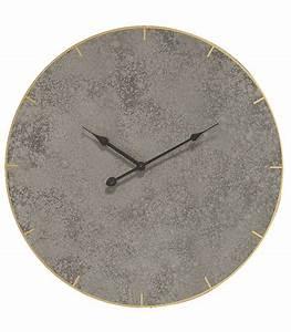 Horloge Murale Grise : horloge murale grise et dor e ~ Teatrodelosmanantiales.com Idées de Décoration