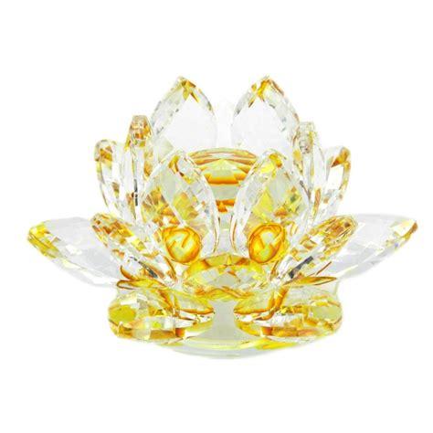 Floare de lotus galbena din cristal :: Fructe,Flori si Plante Norocoase :: Feng Shui 4Life.ro ...