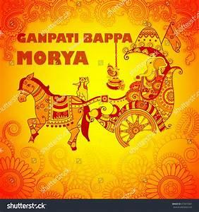Vector Design Happy Ganesh Chaturthi Background Stock ...