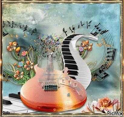 Gifs Musical Flores Notes Picmix Guitar Musica