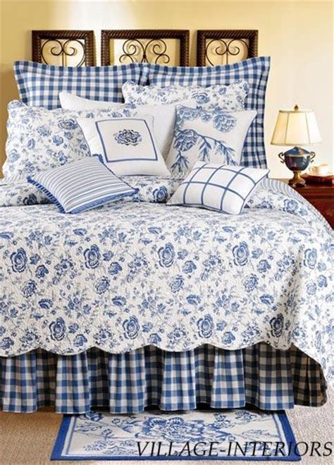 blue and white quilts country house blue white floral toile quilt