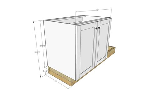 how to make a kitchen sink base cabinet ana white euro style kitchen sink base cabinet for our