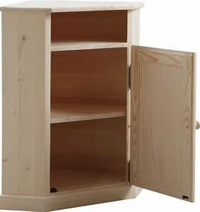 Meuble Angle Bois : meuble d 39 angle en bois brut ~ Edinachiropracticcenter.com Idées de Décoration
