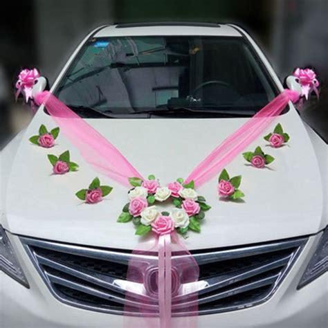 wedding car decoration sets artificial flower diy garlands