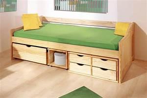 Jugendbett 90x200 Mit Bettkasten : schubkasten einzelbett anna in 90 x200 cm ~ Whattoseeinmadrid.com Haus und Dekorationen