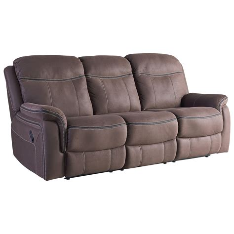 Faux Leather Recliner Sofa by Taupe Faux Leather Reclining Sofa By Standard Furniture