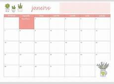 Planner 2018 Calendário Cactos Pdf Feriados Nacionais R